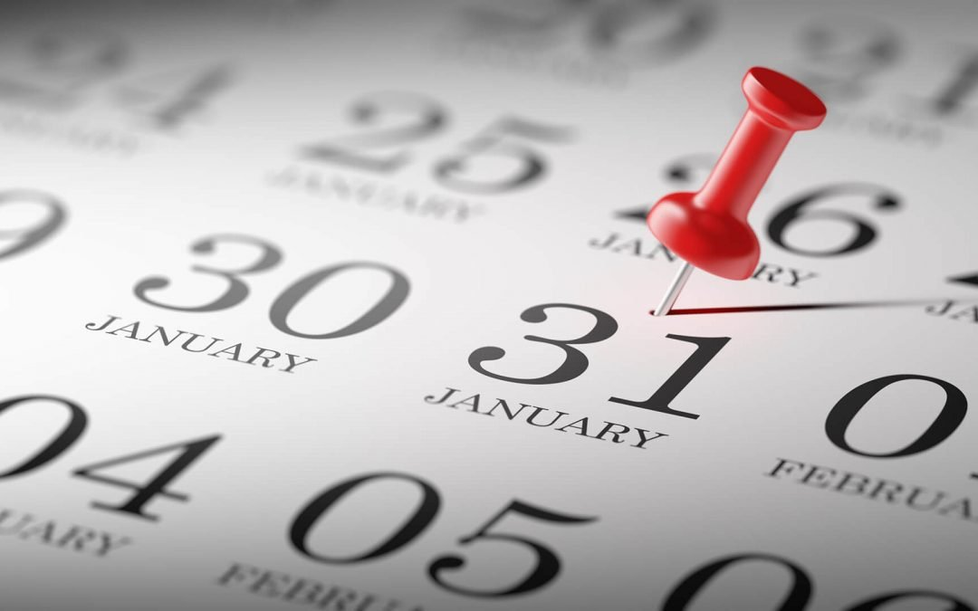 31st January Calendar Deadline